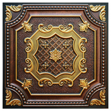Elizabethan Shield - FAD Hand Painted Ceiling Tile - #CTF-015