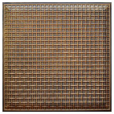 Rustic Lattice III - FAD Hand Painted Ceiling Tile - #CTF-017-3