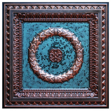 Laurel Wreath III - FAD Hand Painted Ceiling Tile - #CTF-004-3