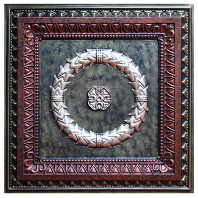 Laurel Wreath IV - FAD Hand Painted Ceiling Tile - #CTF-004-4