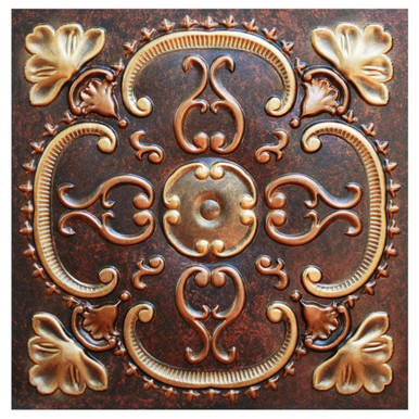Alhambra - FAD Hand Painted Ceiling Tile - #CTF-010