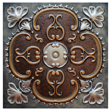 Alhambra II - FAD Hand Painted Ceiling Tile - #CTF-010-2