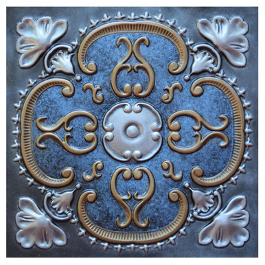 Alhambra III - FAD Hand Painted Ceiling Tile - #CTF-010-3