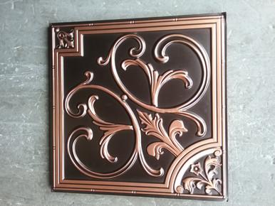 LOT 9 A -PVC-204 (92 SQ FT) 23 PCS Antique copper / DROP-IN or GLUE-UP