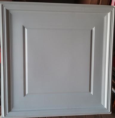 LOT 16 A -PVC-224 (152 SQ FT) 38 PCS White Matt/ Glue Up or Drop In