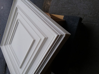 Lot 18 -224 (200sq ft) 50pcs White Matt / drop-in or Glue Up