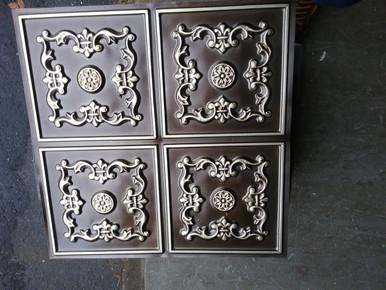 LOT 20 A -PVC-130 (68 SQ FT) 17 PCS Antique Silver / Glue Up