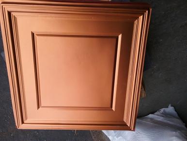 LOT 25 A -PVC-224 (340 SQ FT) 85 PCS Copper/ Glue Up or Drop In