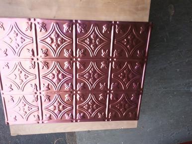 LOT # 31 A - Aluminum Backsplash -0604 (12 SQ FT) 4 PCS Copper 24 x 18 nail Up
