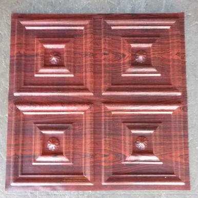 LOT # 55A PVC # 112(108 SQ FT) 27 PCS Rosewood 24 x 24 Glue Up