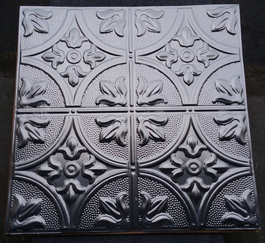 LOT # 65A Laquered Steel #309 (100 SQ FT) 25pcs PCS 24 x 24 Nail Up or Drop In