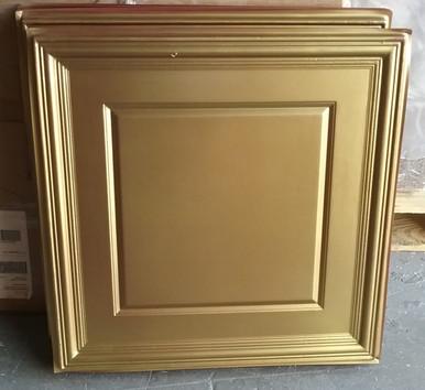 LOT # 68A PVC # 224 (176 SQ FT) 44 pcs Brass 24 x 24 Glue Up or Drop In