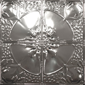 Poppy Tin Plated Steel Ceiling Tile