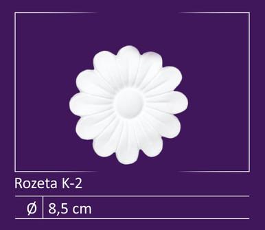 """Glue-up Styrofoam Rosette 3"""" - #K-2"""