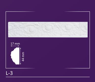 """L-3 - Decorative Molding - 2"""" Wide 3 ln. ft. Long"""