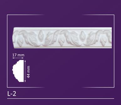 """L-2 - Decorative Molding - 2"""" Wide 4 ln. ft. Long"""