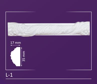 """L-1 - Decorative Molding - 2"""" Wide 4 ln. ft. Long"""