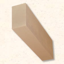 Faux Wood Corbels Doug Fir - Square End - 21 in. Length