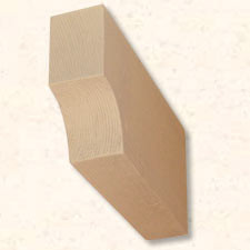 Faux Wood Corbels Doug Fir - Concave - 18 in. Length