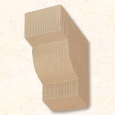 Faux Wood Corbels Doug Fir - Cash Register - 8 in. Length