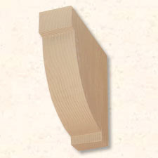 Faux Wood Corbels Doug Fir - 12 in. Length