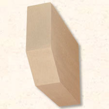 Faux Wood Corbels Doug Fir - Bullnose - 15 in. Length