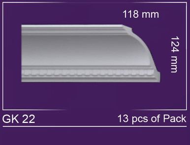 "GK 22 - Crown Molding Pack - 7"" Wide (85 ln. ft. / Pack)"