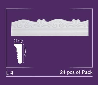 "Glue-up Styrofoam Decorative Molding Pack 2"" Wide (96 ln. ft. / Pack) - #L-4"