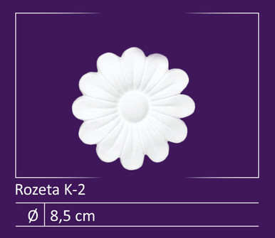"""Glue-up Styrofoam Rosette Pack 3"""" - #K-2"""