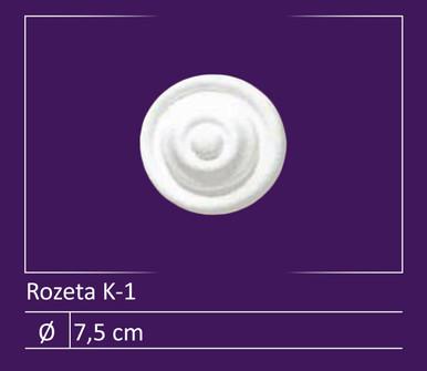 """Glue-up Styrofoam Rosette Pack 3"""" - #K-1"""