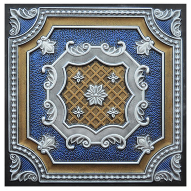 Elizabethan Shield II - FAD Hand Painted Ceiling Tile - #CTF-015-2