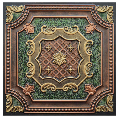 Elizabethan Shield III - FAD Hand Painted Ceiling Tile - #CTF-015-3