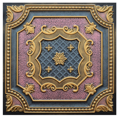 Elizabethan Shield IV - FAD Hand Painted Ceiling Tile - #CTF-015-4