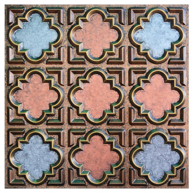 Casablanca II - FAD Hand Painted Ceiling Tile - #CTF-020-2