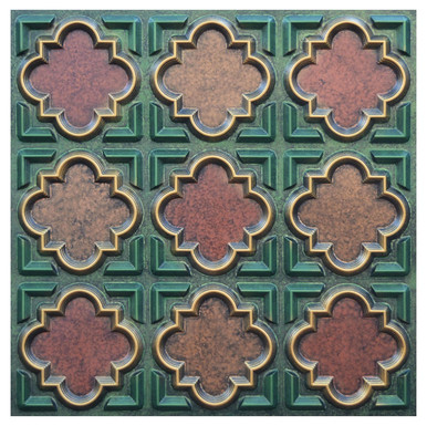 Casablanca III - FAD Hand Painted Ceiling Tile - #CTF-020-3