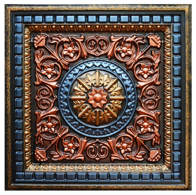 Da Vinci IV-B - FAD Hand Painted Ceiling Tile - #CTF-012-4B