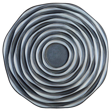 Black Hole - FAD Hand Painted Contemporary Ceiling Medallion - #CCMF-151