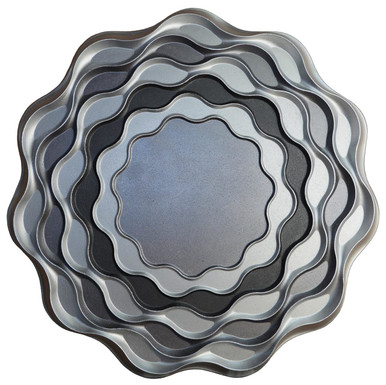 Wavy Ocean - FAD Hand Painted Contemporary Ceiling Medallion - #CCMF-150
