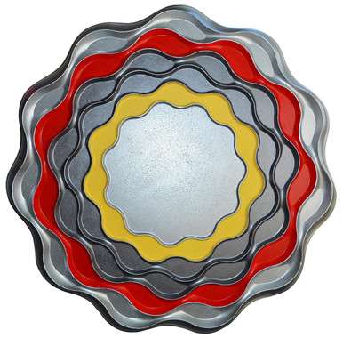 Sunset Ocean - FAD Hand Painted Contemporary Ceiling Medallion - #CCMF-150-3