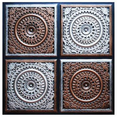 Grandma's Doilies Quartet - FAD Hand Painted Ceiling Tile - #CTF-018