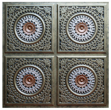 Grandma's Doilies Quartet II - FAD Hand Painted Ceiling Tile - #CTF-018-2