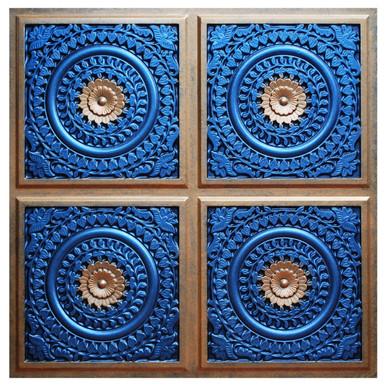 Grandma's Doilies Quartet III - FAD Hand Painted Ceiling Tile - #CTF-018-3