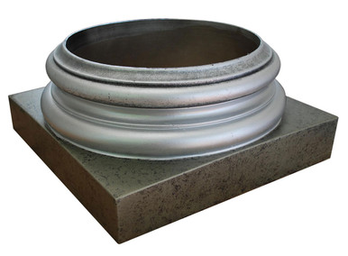 Faux Marble Finish Column Base - #CPBF-AT-IS
