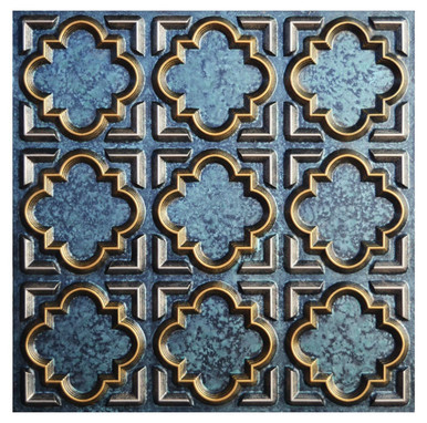 Casablanca IV - FAD Hand Painted Ceiling Tile - #CTF-020-4