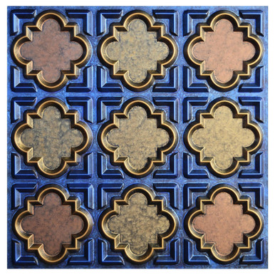 Casablanca V - FAD Hand Painted Ceiling Tile - #CTF-020-5