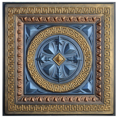 Odysseus Shield II - FAD Hand Painted Ceiling Tile - #CTF-014-2