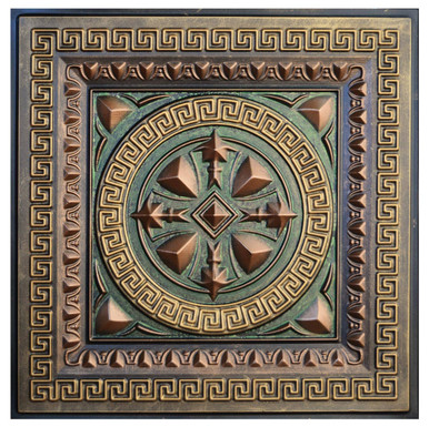 Odysseus Shield III - FAD Hand Painted Ceiling Tile - #CTF-014-3