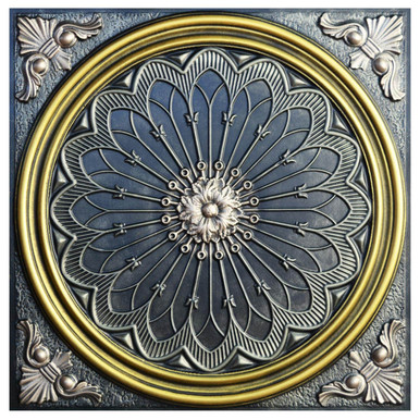 Rose Window V - FAD Hand Painted Ceiling Tile - #CTF-007-5