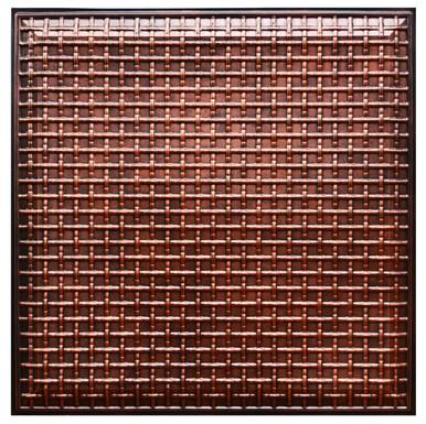 Rustic Lattice VI - FAD Hand Painted Ceiling Tile - #CTF-017-6