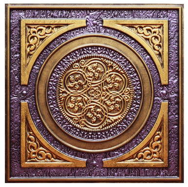 Steampunk IV - FAD Hand Painted Ceiling Tile - #CTF-006-4